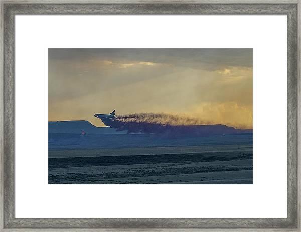 Framed Print featuring the photograph Dc-10's First Retardant Drop In South Dakota by Bill Gabbert