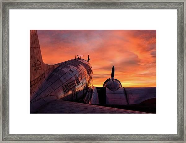 Dc-3 Dawn - 2017 Christopher Buff, Www.aviationbuff.com Framed Print
