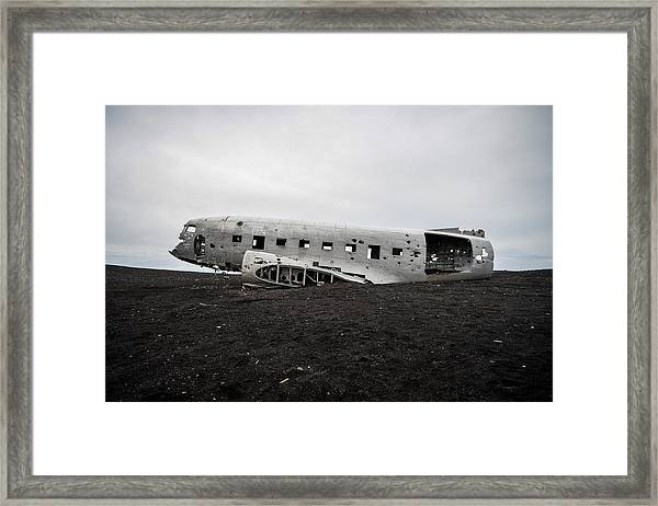 Dc-3 Wreck On The Solheimasandur Framed Print