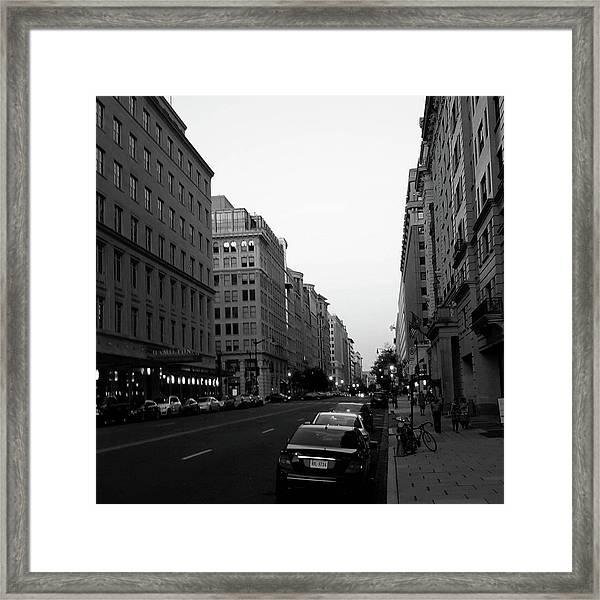 Dc Afternoons Framed Print
