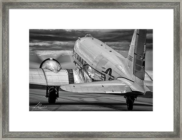 Dc3 Taxiing For Departure Framed Print