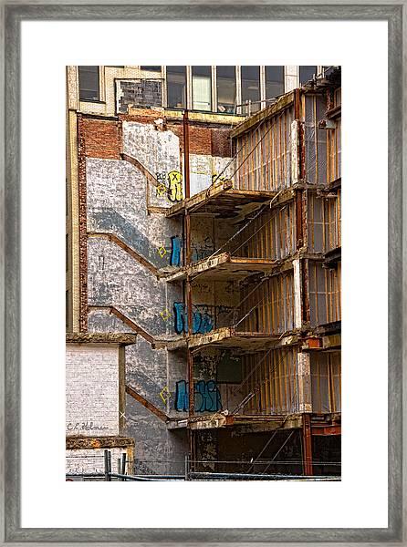 De-construction Framed Print