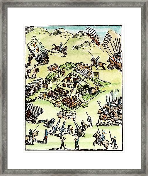 De Soto Alabama Native Americans Framed Print