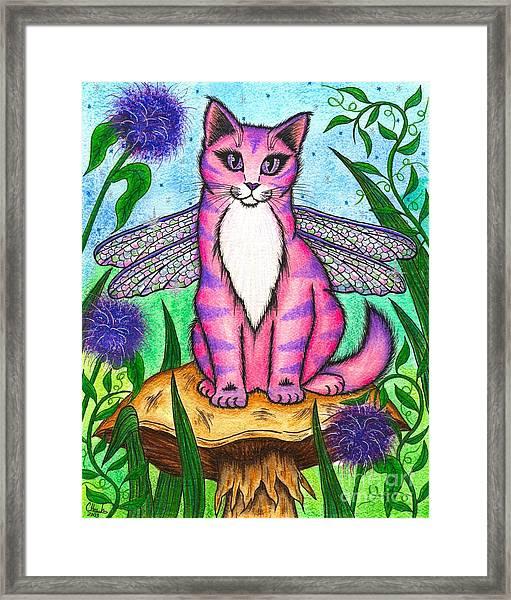 Dea Dragonfly Fairy Cat Framed Print
