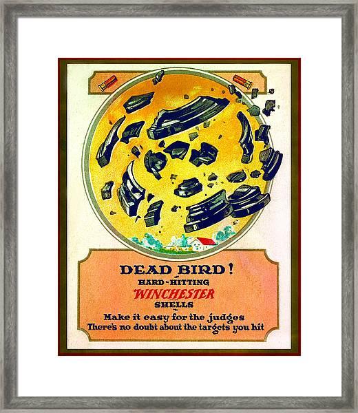 Dead Bird Framed Print