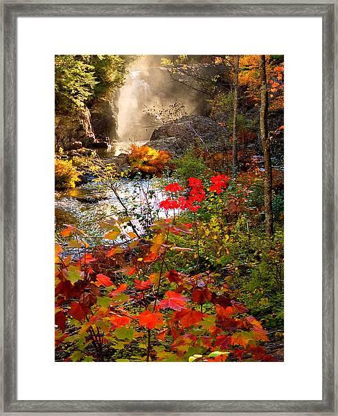Dead River Falls Foreground Plus Mist 2509 Framed Print