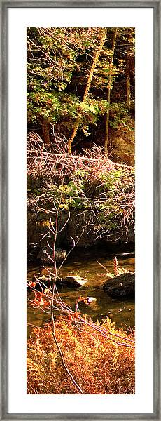 1 Of 6 Dead River Falls  Marquette Michigan Section Framed Print