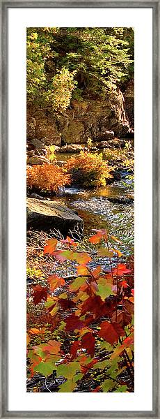 4 Of 6 Dead River Falls  Marquette Michigan Section Framed Print