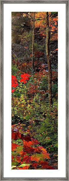 6 Of 6 Dead River Falls  Marquette Michigan Section Framed Print