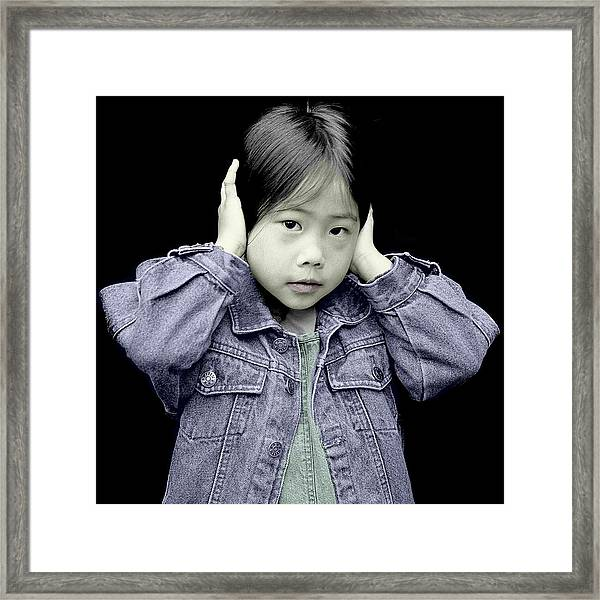 Framed Print featuring the photograph Deaf by Jan Keteleer