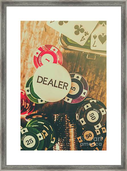 Dealers House Edge Framed Print
