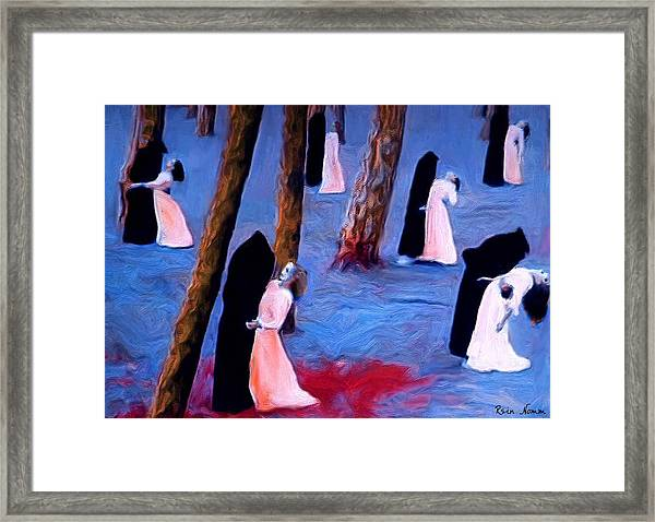 Death And The Maidens Framed Print