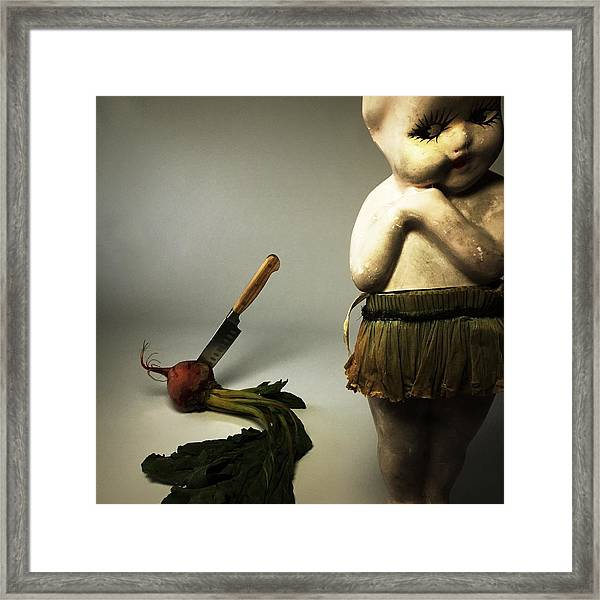 Death Of A Vegetable Framed Print