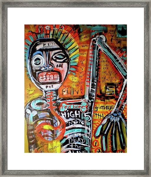 Death Of Basquiat Framed Print