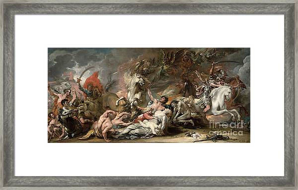 Death On The Pale Horse Framed Print