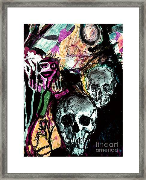 Death Study-2 Framed Print