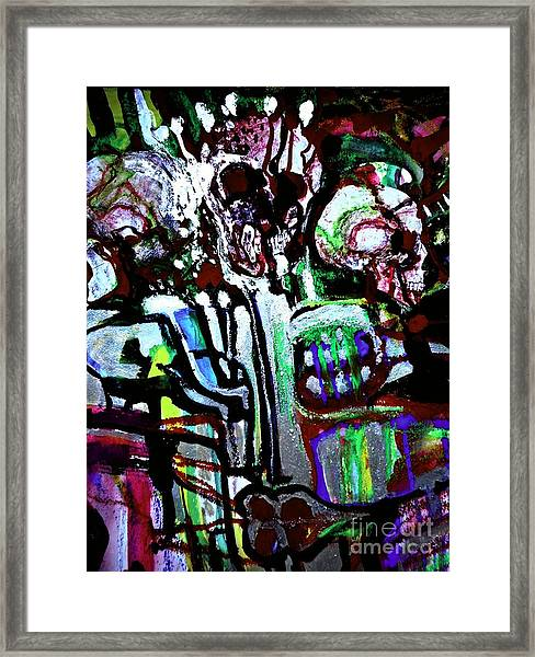 Death Study-3 Framed Print
