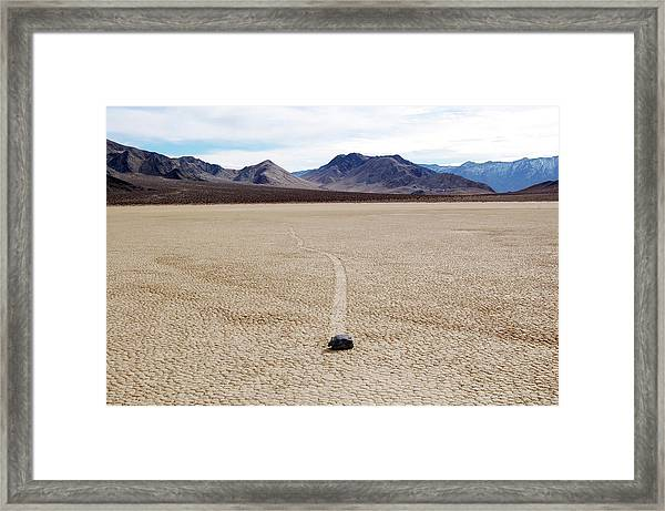 Framed Print featuring the photograph Death Valley Racetrack by Breck Bartholomew