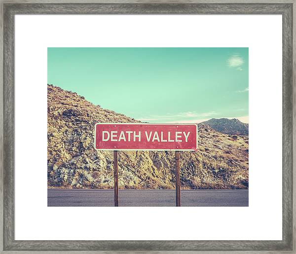 Death Valley Sign Framed Print