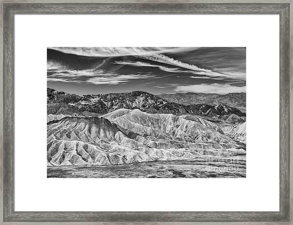 Deathvalley Cracks And Ridges Framed Print