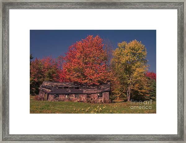 Decaying Building Framed Print