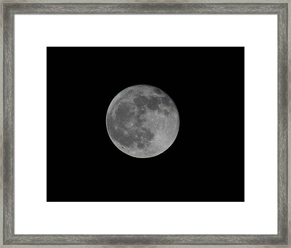 December Moon Framed Print