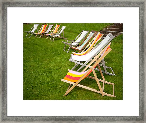 Deck Chairs Framed Print