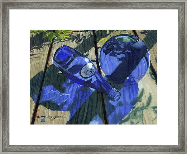 Decked Out In Blue Framed Print