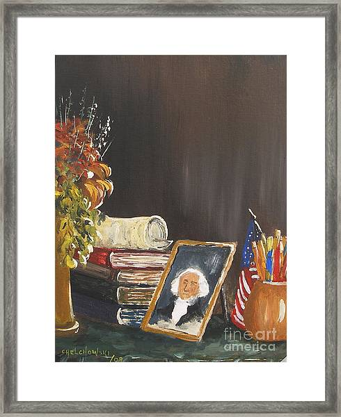 Declaration Of The United States Of America Framed Print