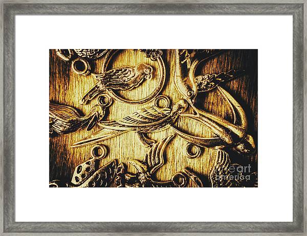 Decorative Bird Charms Framed Print