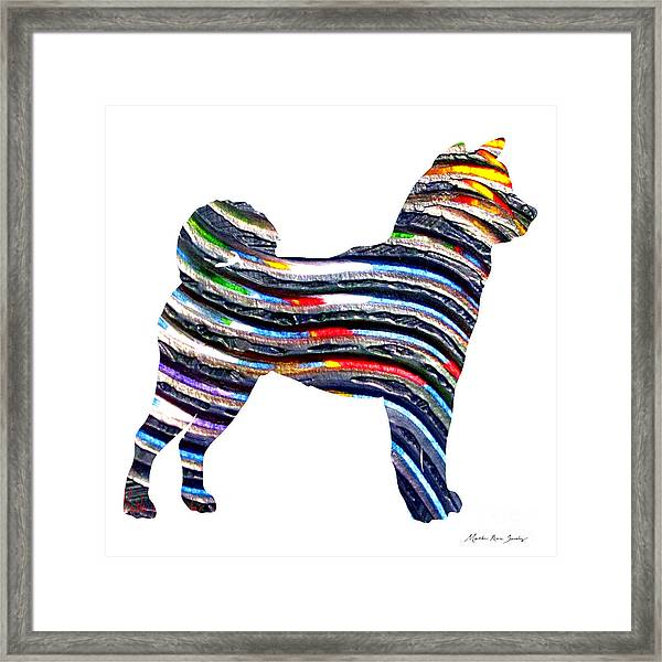 Decorative Husky Abstract O1015b Framed Print
