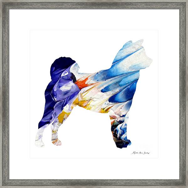 Decorative Husky Abstract O1015c Framed Print