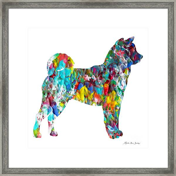 Decorative Husky Abstract O1015h Framed Print