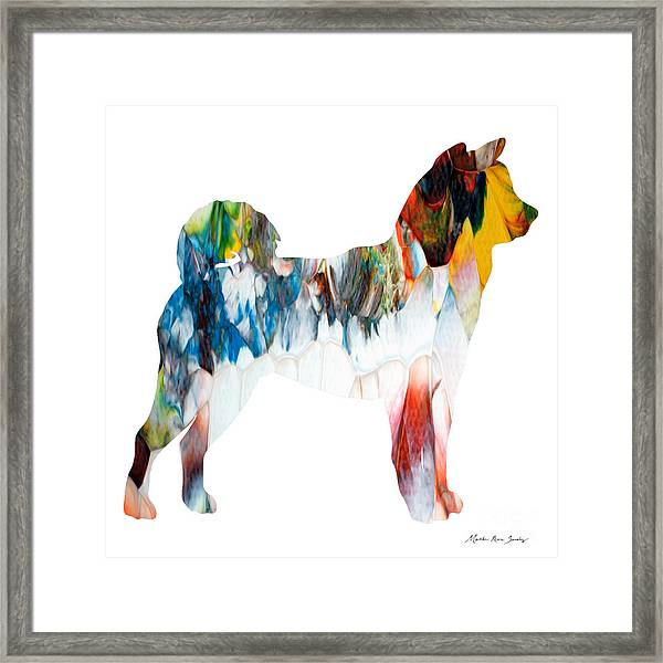 Decorative Husky Abstract O1015l Framed Print