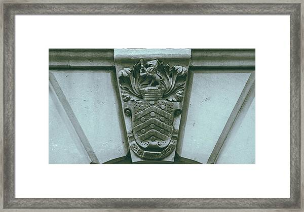 Decorative Keystone Architecture Details C Framed Print