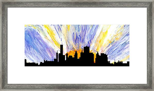 Framed Print featuring the painting Decorative Skyline Abstract  Houston T1115v1 by Mas Art Studio