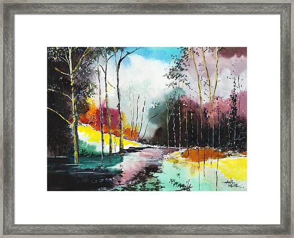 Deep 5 Framed Print