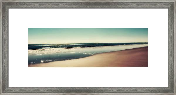 Deep Blue Sea Panoramic Framed Print