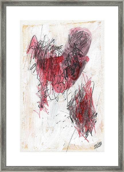Deep Meat Framed Print