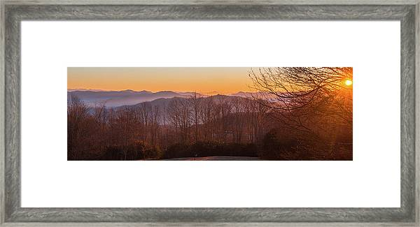 Framed Print featuring the photograph Deep Orange Sunrise by D K Wall