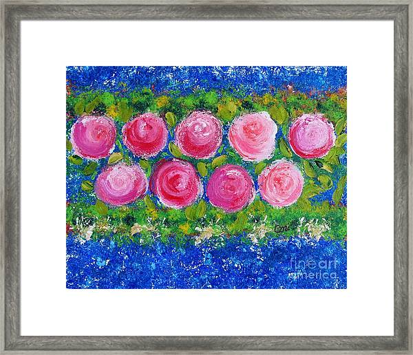 Deep Pink Flowers Framed Print