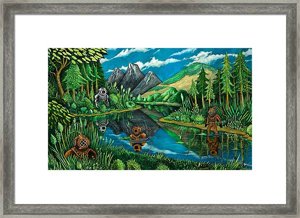 Deep Sea Climbers Framed Print