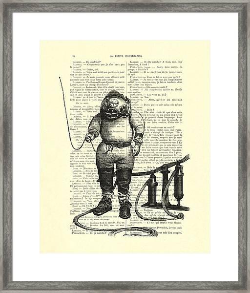 Deep Sea Diver Framed Print