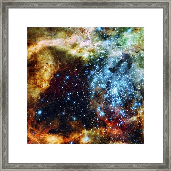 Deep Space Fire And Ice 2 Framed Print