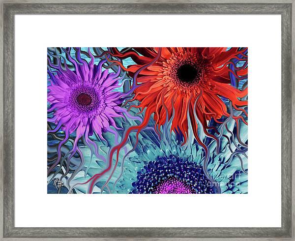 Deep Water Daisy Dance Framed Print
