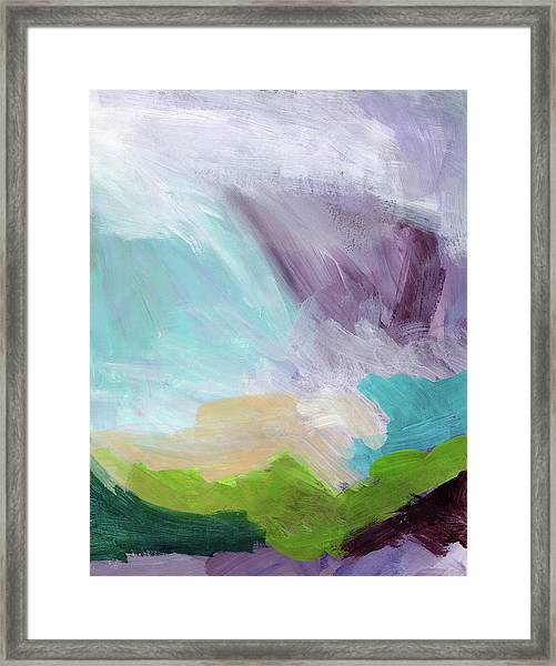 Deepest Breath- Abstract Art By Linda Woods Framed Print