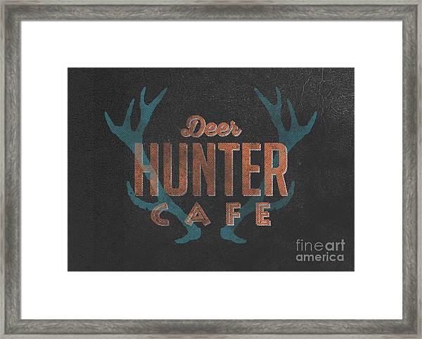 Deer Hunter Cafe Framed Print