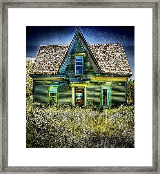 Deer Isle Haunted House Framed Print