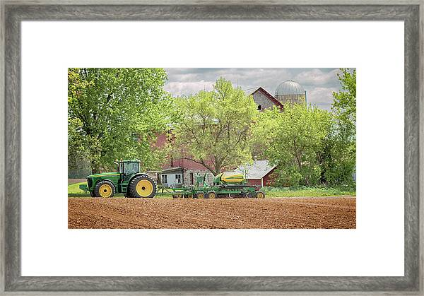 Deere On The Farm Framed Print