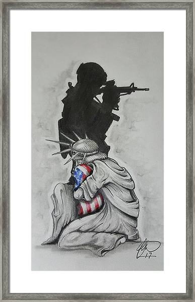 Defending Liberty Framed Print